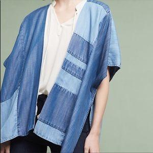 Anthropologie Cloth and Stone Denim Kimono